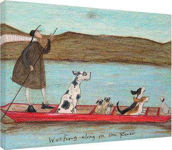 Sam Toft - Woofing along on the River Billede på lærred