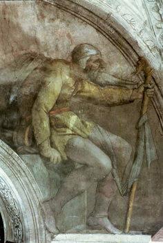 Billede på lærred Sistine Chapel Ceiling: One of the Ancestors of God