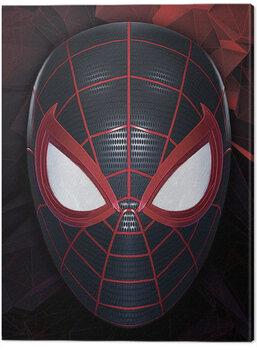 Billede på lærred Spider-Man Miles Morales - The Mask of a Hero