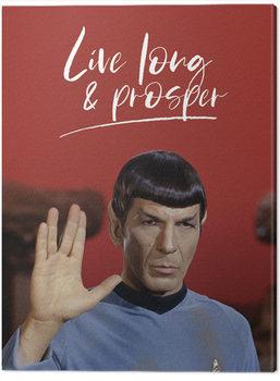 Star Trek - Live Long and Prosper Billede på lærred