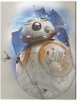 Billede på lærred Star Wars The Last Jedi - BB - 8 Brushstroke