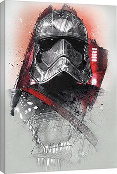 Star Wars: The Last Jedi -Captain Phasma Brushstroke Billede på lærred