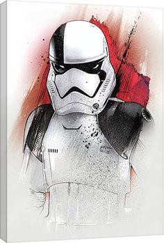 Star Wars: The Last Jedi -Executioner Trooper Brushstroke Billede på lærred