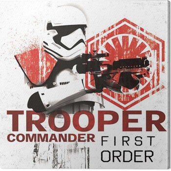 Billede på lærred Star Wars The Last Jedi - Tooper Commander First Order