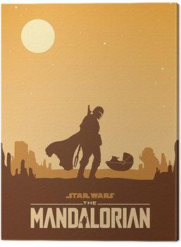 Billede på lærred Star Wars: The Mandalorian - Meeting