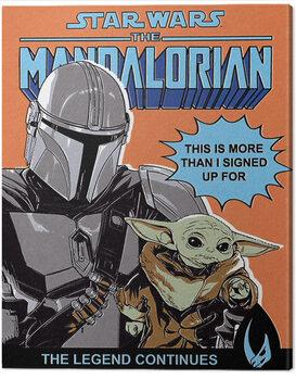 Billede på lærred Star Wars: The Mandalorian - This Is More Than I Signed Up For