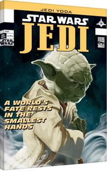 Star Wars - Yoda Comic Cover Billede på lærred