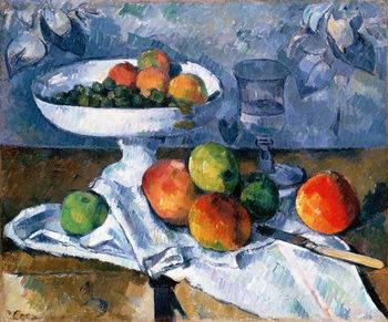 Billede på lærred Still Life with Fruit Dish, 1879-80