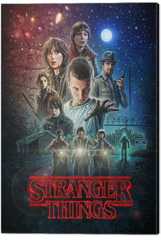 Stranger Things - One Sheet Billede på lærred