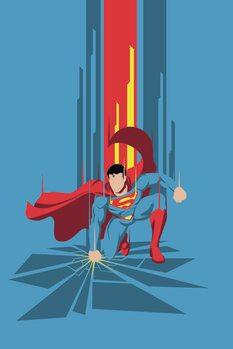 Billede på lærred Superman - Power Blue
