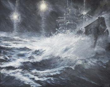 Billede på lærred Surprised By Starshell Scharnhorst at North Cape, 2008,
