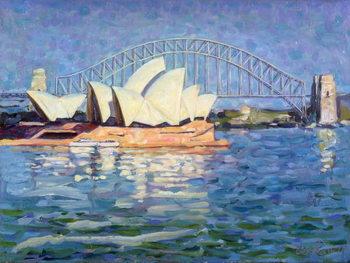Sydney Opera House, AM, 1990 Billede på lærred