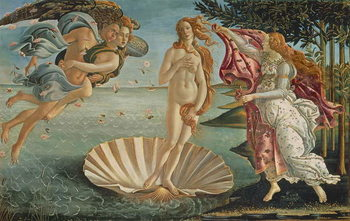 Billede på lærred The Birth of Venus, c.1485