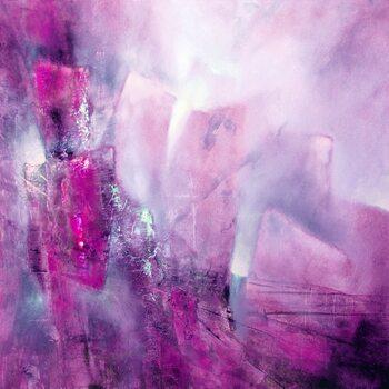 Billede på lærred the bright side - pink with a hint of purple