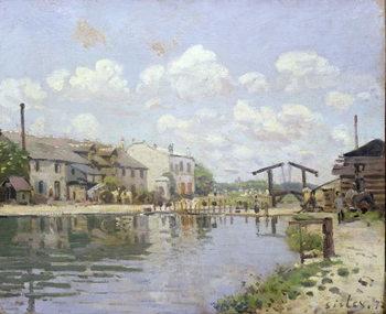 Billede på lærred The Canal Saint-Martin, Paris, 1872