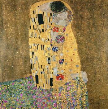 Billede på lærred The Kiss, 1907-08