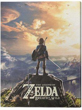 Billede på lærred The Legend of Zelda: Breath of The Wild - Sunset