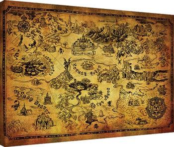 The Legend Of Zelda - Hyrule Map Billede på lærred