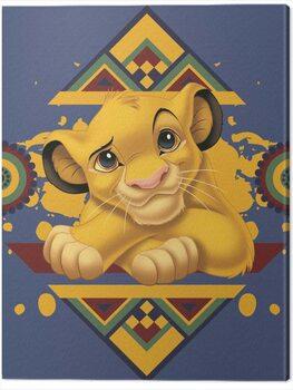 Billede på lærred The Lion King - Simba Tribal Pattern