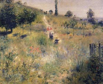 The Path through the Long Grass, c.1875 Billede på lærred