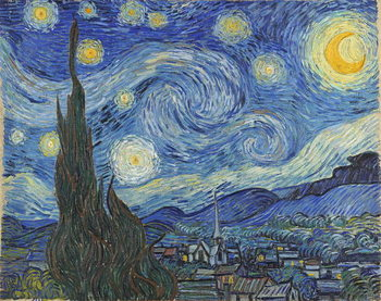 The Starry Night, June 1889 Billede på lærred
