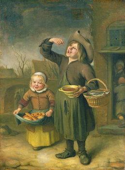 The Syrup Eater (A Boy Licking at Syrup) Billede på lærred