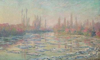 The Thaw on the Seine, near Vetheuil, 1880 Billede på lærred