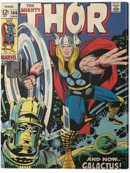 Billede på lærred Thor - Galactus