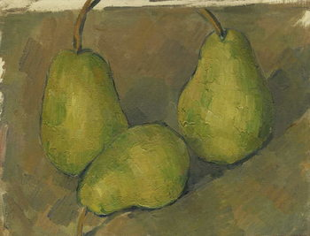 Billede på lærred Three Pears, 1878-9
