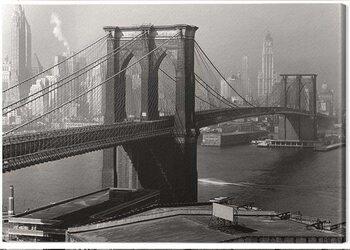 Billede på lærred Time Life - Brooklyn Bridge, New York 1946
