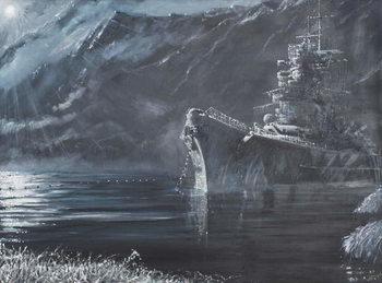 Billede på lærred Tirpitz The Lone Queen Of The North 1944, 2007,