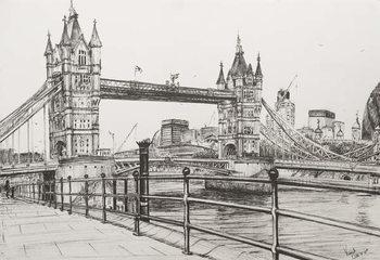Billede på lærred Tower Bridge London, 2006,