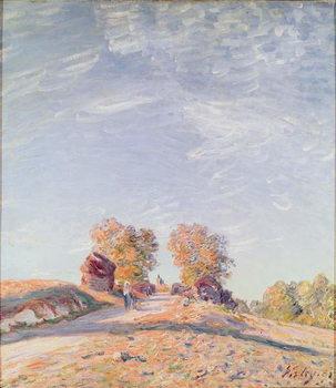 Uphill Road in Sunshine, 1891 Billede på lærred