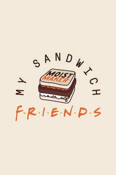 Billede på lærred Venner  - My sandwich