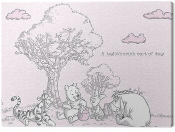 Billede på lærred Winnie The Pooh - Togetherish