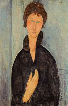 Woman with Blue Eyes, c.1918 Billede på lærred