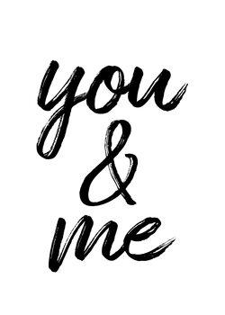 Billede på lærred You and me