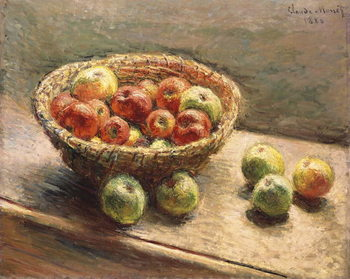 A Bowl of Apples; Le Panier de Pommes, 1880 Billede på lærred