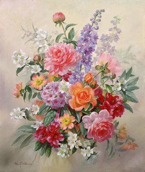 A High Summer Bouquet Billede på lærred