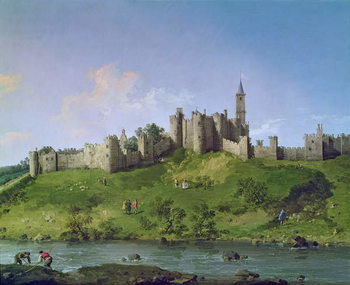 Alnwick Castle Billede på lærred