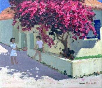 Bougainvillaea, Zante, 1999 Billede på lærred