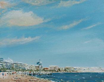 Cannes Sea Front, 2014, Billede på lærred