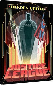 DC Comics - Heroes United Billede på lærred
