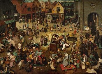 Fight between Carnival and Lent, 1559 Billede på lærred