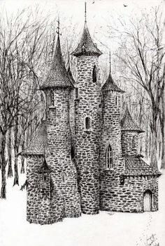 Gatehouse of The Castle in the forest of Findhorn, 2006, Billede på lærred