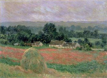 Haystack at Giverny, 1886 Billede på lærred