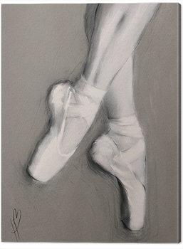 Hazel Bowman - Dancing Feet I Billede på lærred