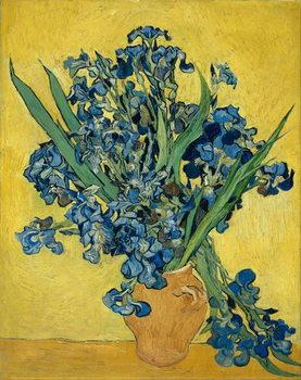 Irises, 1890 Billede på lærred