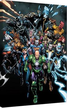 Justice League- Heroes Billede på lærred