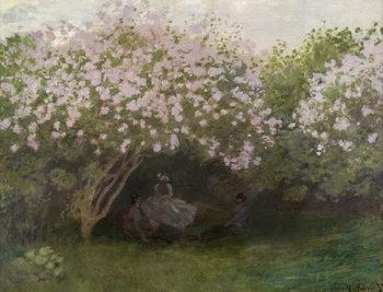 Lilacs, Grey Weather, 1872 Billede på lærred
